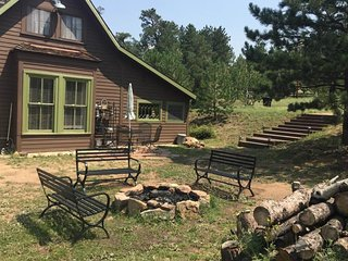 NEW LISTING! Historic & spacious lodge w/ deck, fire pit & mountain view