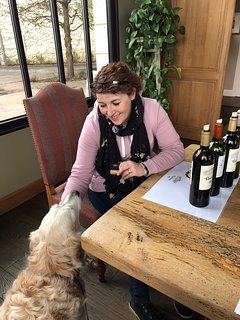 Tracey can advise on local family and dog friendly wine tasting. This is Chateau Thenac