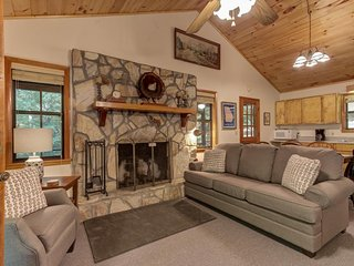 NEW LISTING! Secluded cabin on three gorgeous acres with a creek & firepit