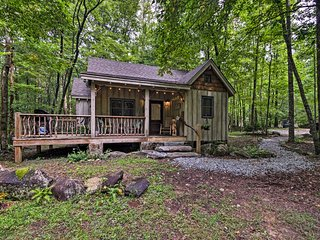 NEW! Cozy Creekside Cabin by Table Rock State Park