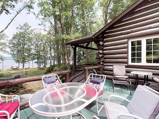 NEW LISTING! Historic lakefront cabin w/amenities, private dock & water views