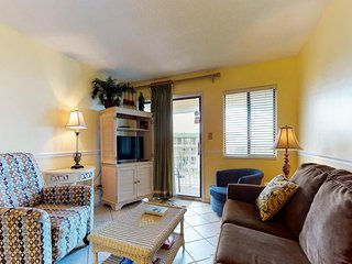 NEW LISTING! Hotel suite w/beach access, shared pool & hot tub & dining