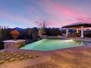 Luxury Scottsdale home on 1.25 acres with a private pool, spa, and home theater
