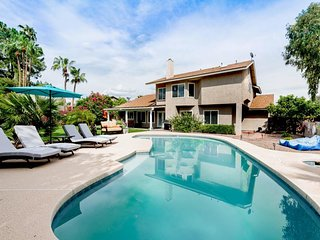 NEW LISTING! Beautiful, home w/ heated pool, hot tub, pool table & lush backyard