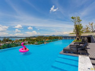 ♥ Sea View Rooftop Pool ♥ Beach line 714