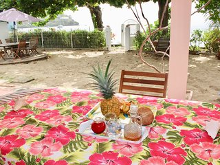 Villa Bougainvillier, Beautiful studio 'Plage' sea view, foot in the water