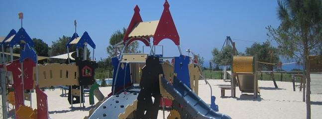 Children's playground Aphrodite Hills, five minutes drive.