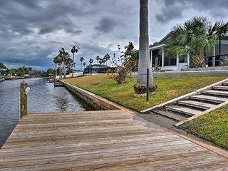 NEW! Canalside Palm Coast Home w/ Dock & Pool!