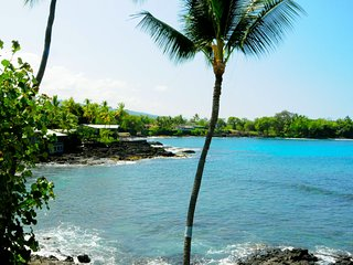 Lymans Bay, Oceanfront, The Dolphin And Whale House, Kona, Central Air, Spa