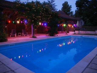 Holiday gite with shared pool near Riberac