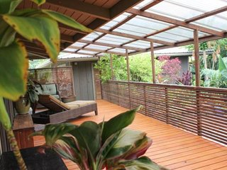 NEW LISTING! Ocean view home on an organic mango farm w/hot tub & covered lanai