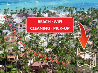 Beach Villa Cayena 2bdr WiFi Cleaning