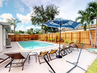 NEW LISTING! Sunny & bright getaway w/kitchenette, furnished patio & shared pool