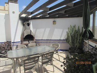 The downstairs terrace.