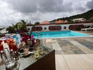 Villa Diamond Sea à Sainte-Luce: piscine et vue mer
