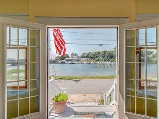 NEW LISTING! Delightful waterfront home w/views near golfing, fishing & beach
