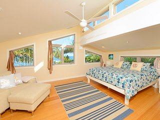 Paia Beach Home, 10 steps white sandy beach