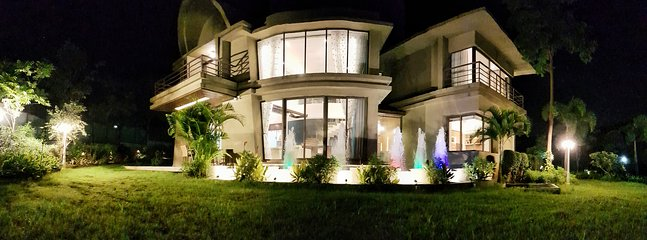 Night view of  Lake Spa Villa