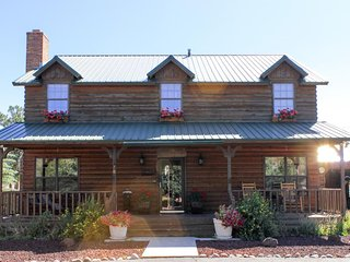 NEW LISTING! Classic log lodge w/shaded porch, patio & chiminea - near hiking