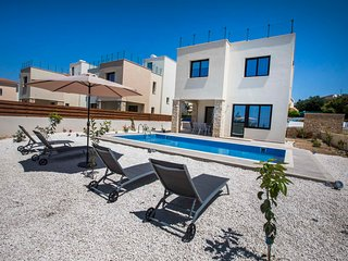 Olivia villa 63. Brand new 3 bedroom villa with private pool in Paphos seaside.