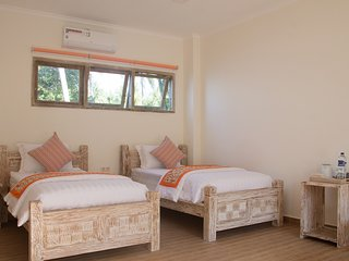 Double/Twin Room in 11-bedroom beachfront compound