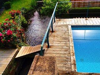 Maison Villa Loft Piscine 20m 30°/ Spa 37°/Riviere