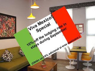 Fantastic Suite, ideal 4 couples, near the WTC; seize our Viva Mexico! special