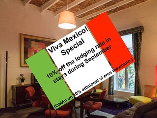 Fabulous Suite, ideal 4 couples, near the WTC; seize our Viva Mexico! special