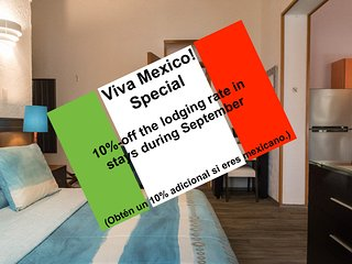 2 Adjoint Suites, near the WTC; seize our Viva Mexico! special