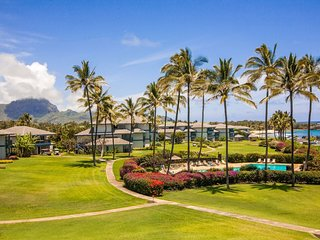 Poipu Sands 122: Top Floor Oceanview Condo Near Beach