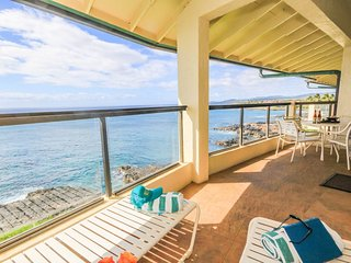 Poipu Shores 405A: Oceanfront Top Floor AC Penthouse