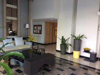 Resort-style studio condominium with swimming pool view