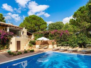 Large Mediterranean villa with sunset views