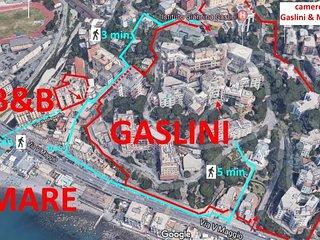 a fianco del Gaslini, a 59 m. dal mare