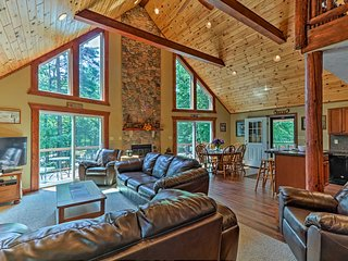NEW! 3-Story Lake Harmony Resort Chalet w/ Grill!