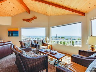 Open & spacious beach home w/ newly-remodeled kitchen, ocean views, & decks!