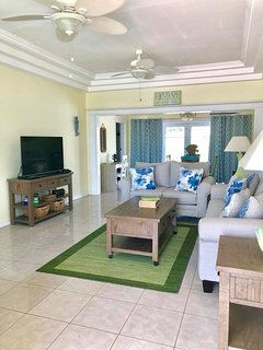 Living room to Library/Game Room with 55' SMART TV DVD/BLUERAY & CABLE
