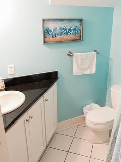 Bathroom with Shower across from Kitchen
