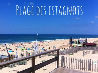 Appartement vue mer en première ligne plage des Estagnots