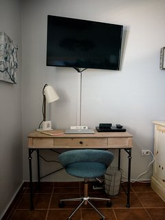 Desk & TV in master room