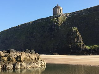 Close to the House Mussenden Temple and Downhill Beach