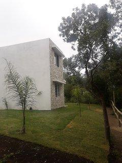 Casas estilo Piedra 2 ambientes - Base 2 personas (hta 4 huespedes): Vista desde el parque