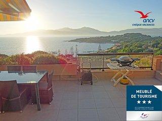 'Douceur du soir' à Porticcio : duplex 45 m2, jardinet, wifi, clim, proche mer