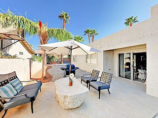 Recently Updated 3BR w/ Private Patios – Golf, Tennis, Pool & Spa Access