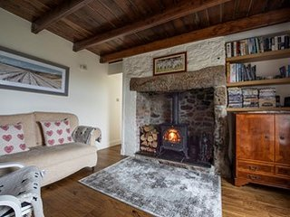 Cape Cornwall, cottage with sea views, sandy coves, Poldark tv series location.