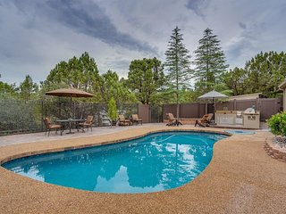 Private pool, outdoor gas fire pit & kitchen within a beautiful private courtyar