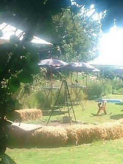 Fachwerkhof, Grillplatz Garten