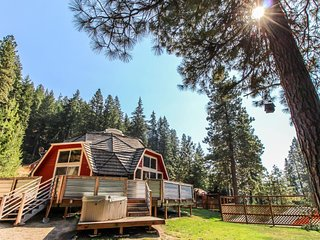Charming, family & dog-friendly geodesic home w/ private hot tub & fireplace