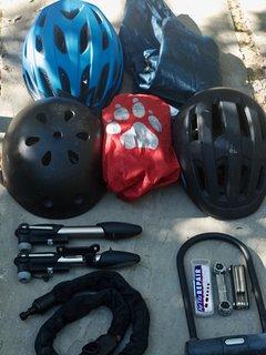Helmets etc