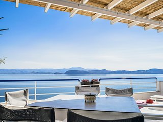 Unique beach Loft Apartment | Amazing sea view balcony | near Nafplio, Mycenae
